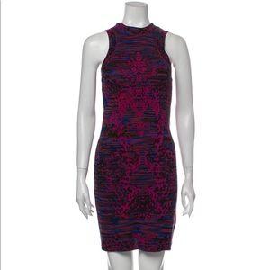 Missoni wool printed sleeveless mini dress XS